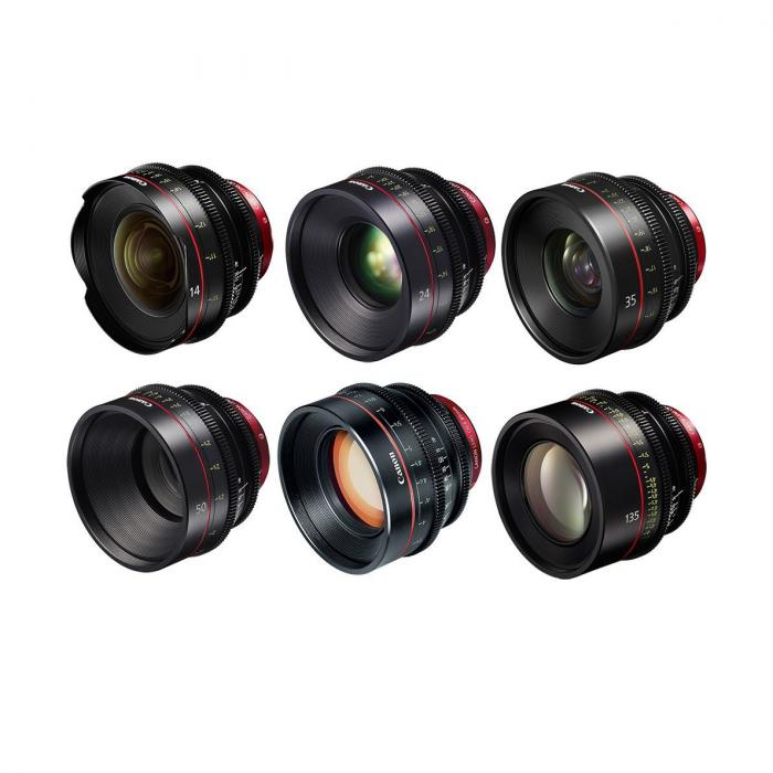Canon EF 6 Cine Prime Lens Bundle