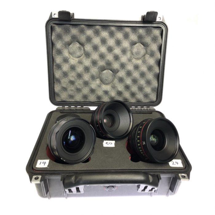 Canon EF Primes Bundle used excellent condition